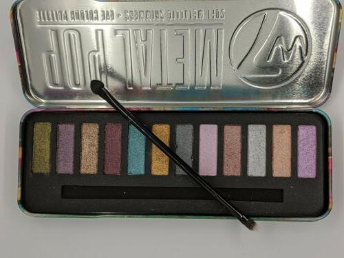 W7 Cosmetics Eye Palette Shimmers Shades Metal Soft
