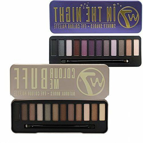 cosmetics eye shadow pallette set in