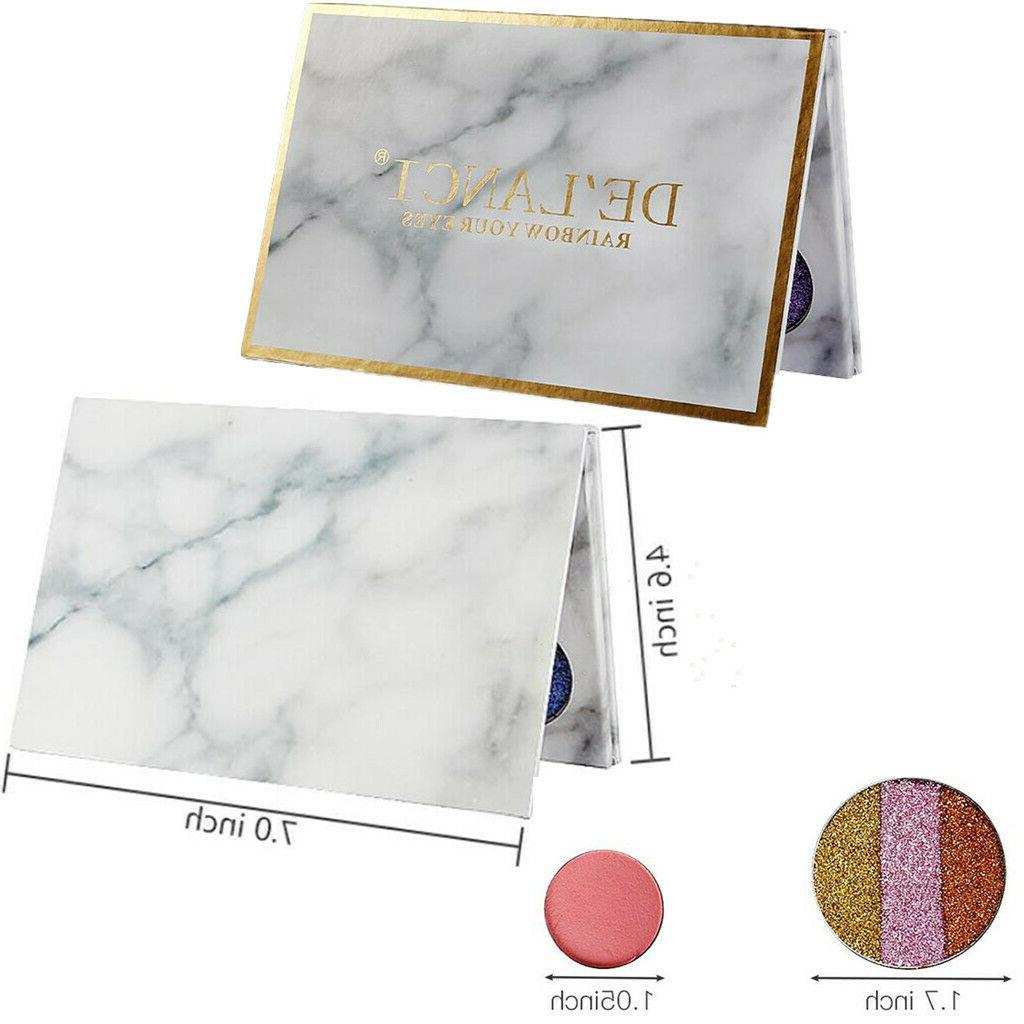 DE'LANCI Eyeshadow Makeup Highly Pigmented with Mirror