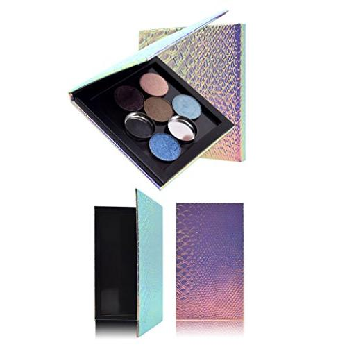Homyl 2 Pieces Empty Mermaid Empty Magnetic Powders 100pcs
