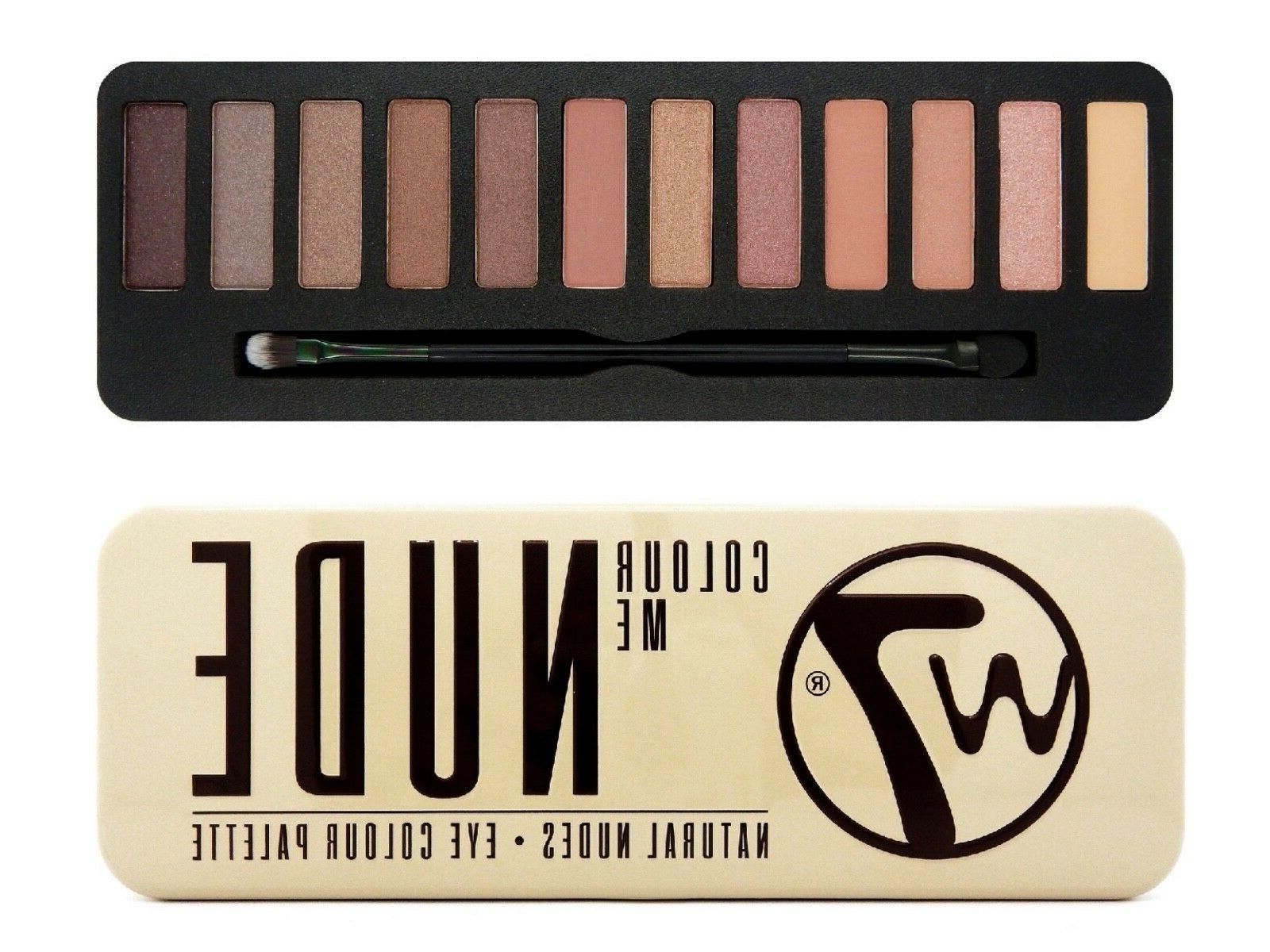 eyeshadow palette colour me nude matte shimmer