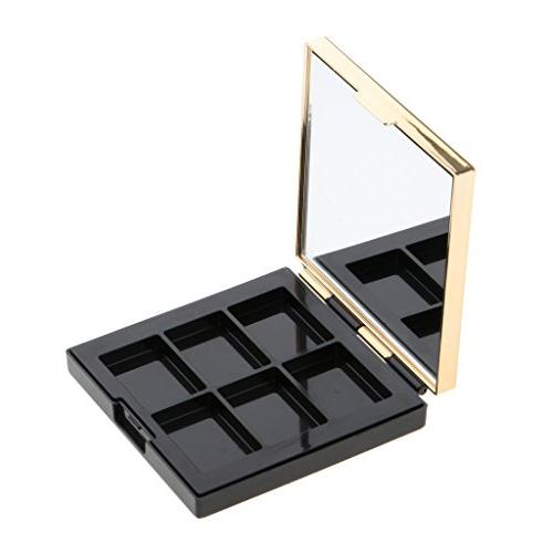 Dovewill Cosmetic 6 Empty Palette Eyeshadow Powder Case Highlighters Inside