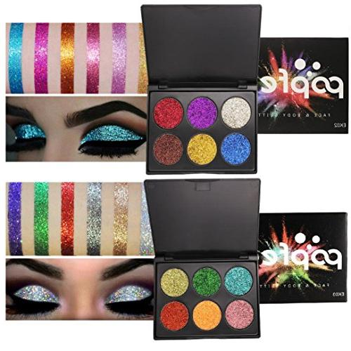 HP95 6 Glitter Eye Powder Palette Matte