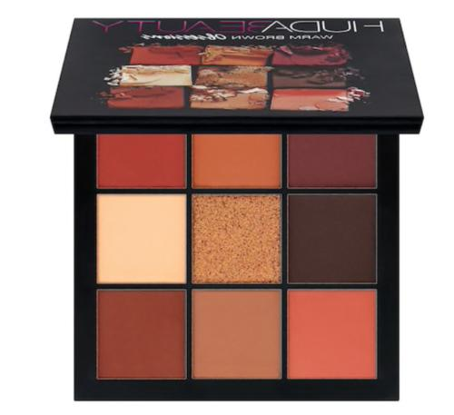 huda beauty obsessions palette warm brown new