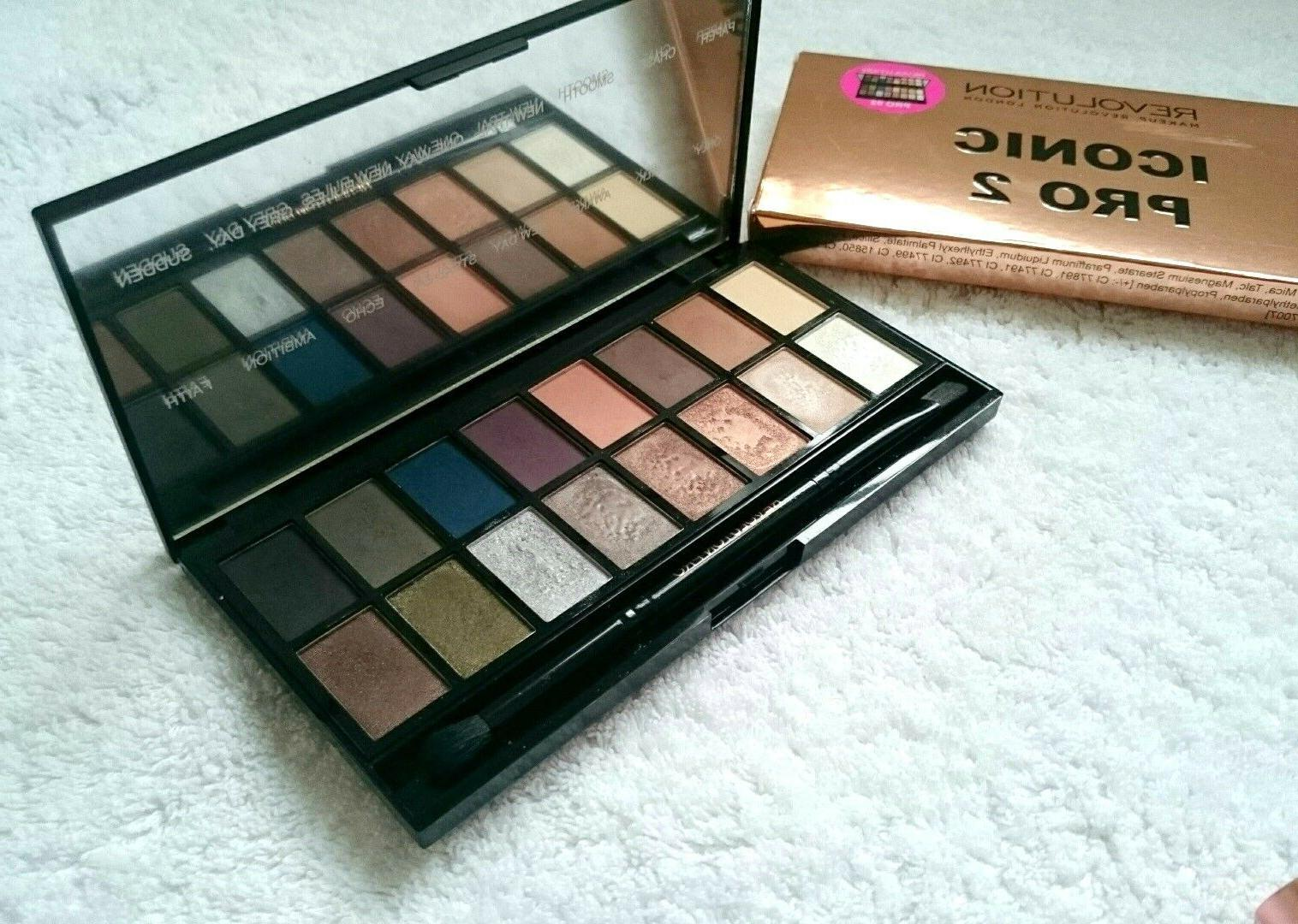MakeUp Revolution Iconic Pro 2 Eyeshadow Palette Boxed Authe