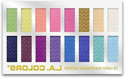 l a colors 16 color eyeshadow palette