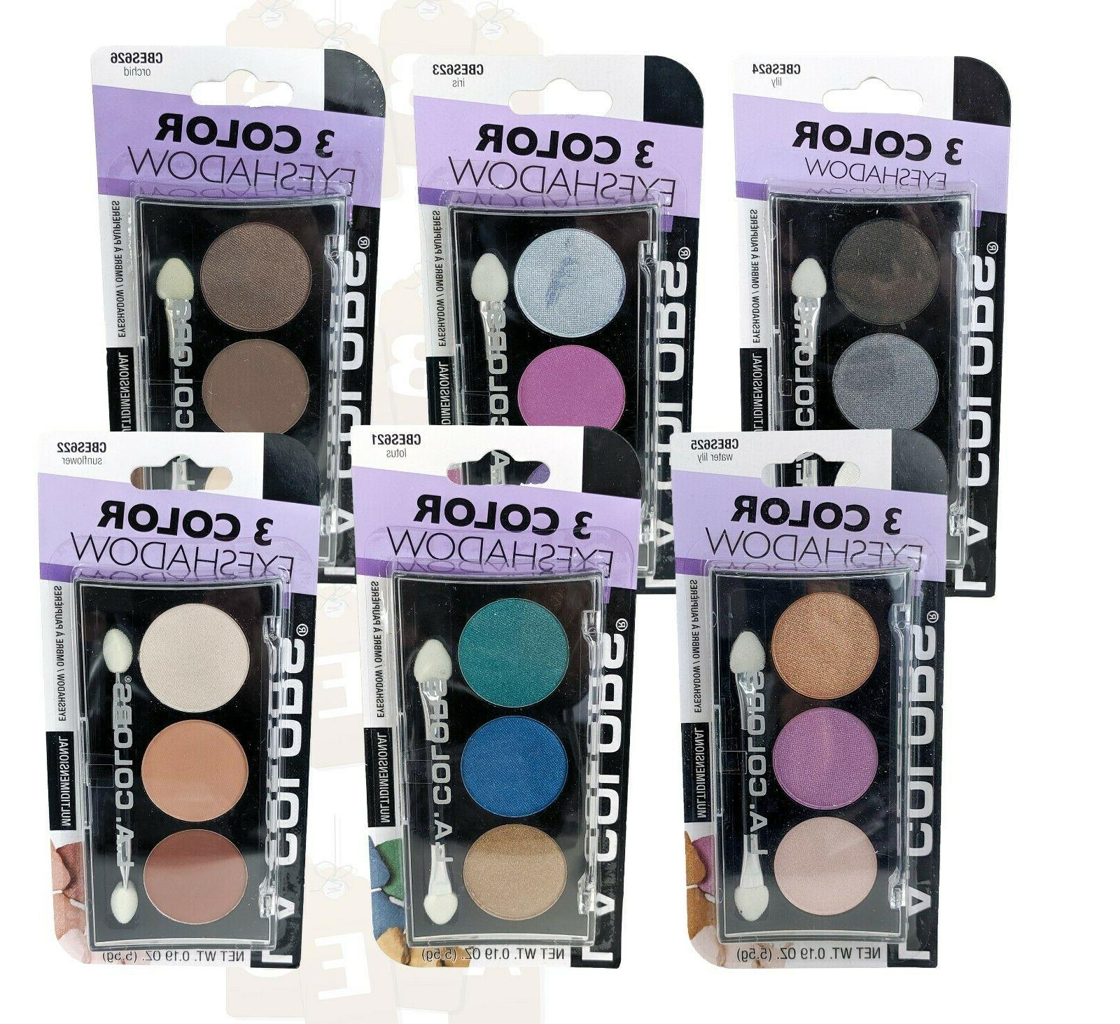l a colors 3 color eyeshadow multidimensional