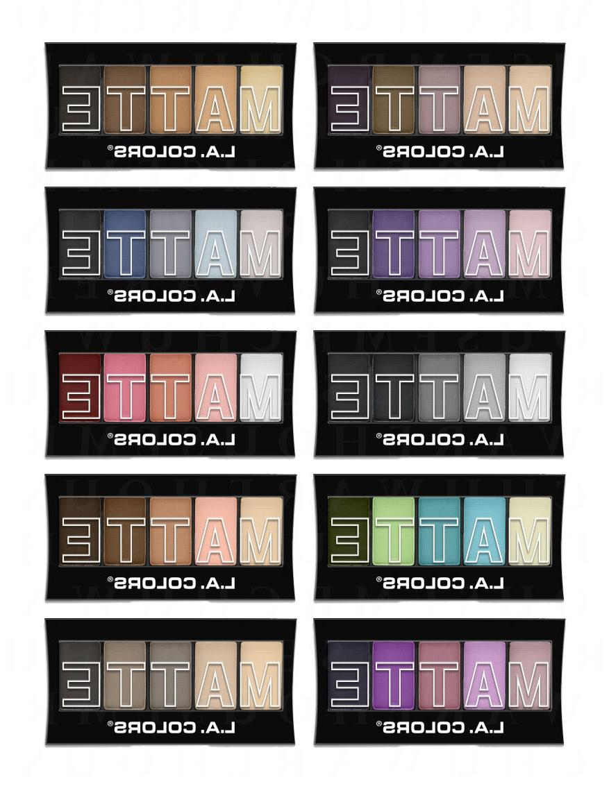 L.A. Colors Makeup Silky Smooth Matte Eyeshadow Palette You