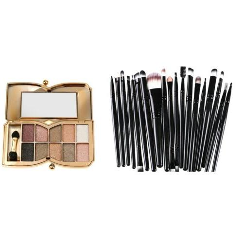 Magideal Pro 10 Colors Diamond Eyeshadow Palette Cosmetic Br