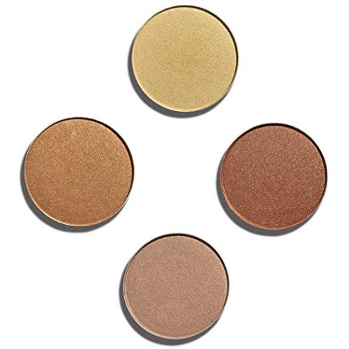 Hunzed { 4 Color Shadow Makeup Cosmetic } { Shimmer Eye Sombras for Beauty Tool