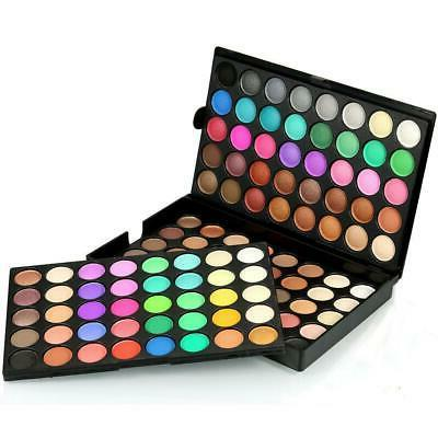 120 Colors Makeup Eye Shadow Palette Shimmer Matte Pressed P