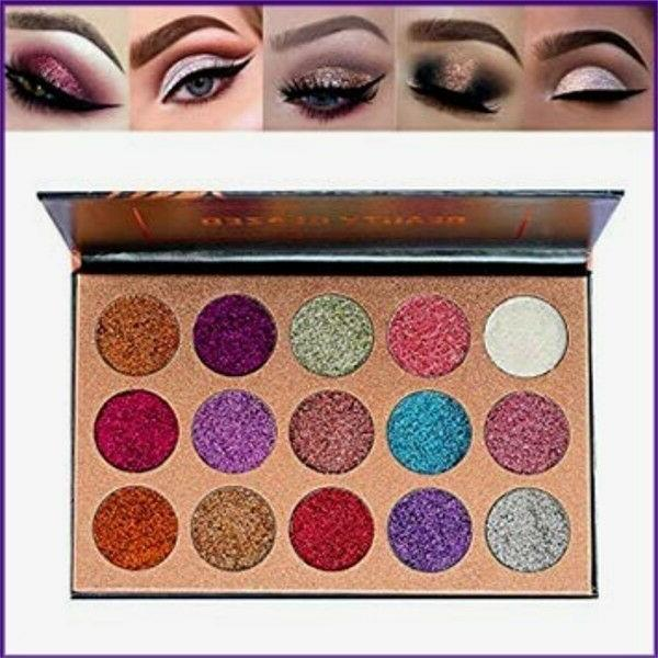 NEW Beauty Glazed 15 Colors Glitter Eyeshadow Shimmer Pigmented