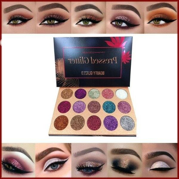 NEW Glazed Colors Glitter Eyeshadow Shimmer Ultra Pigmented