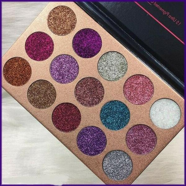 NEW Beauty 15 Colors Palette Shimmer Ultra Pigmented