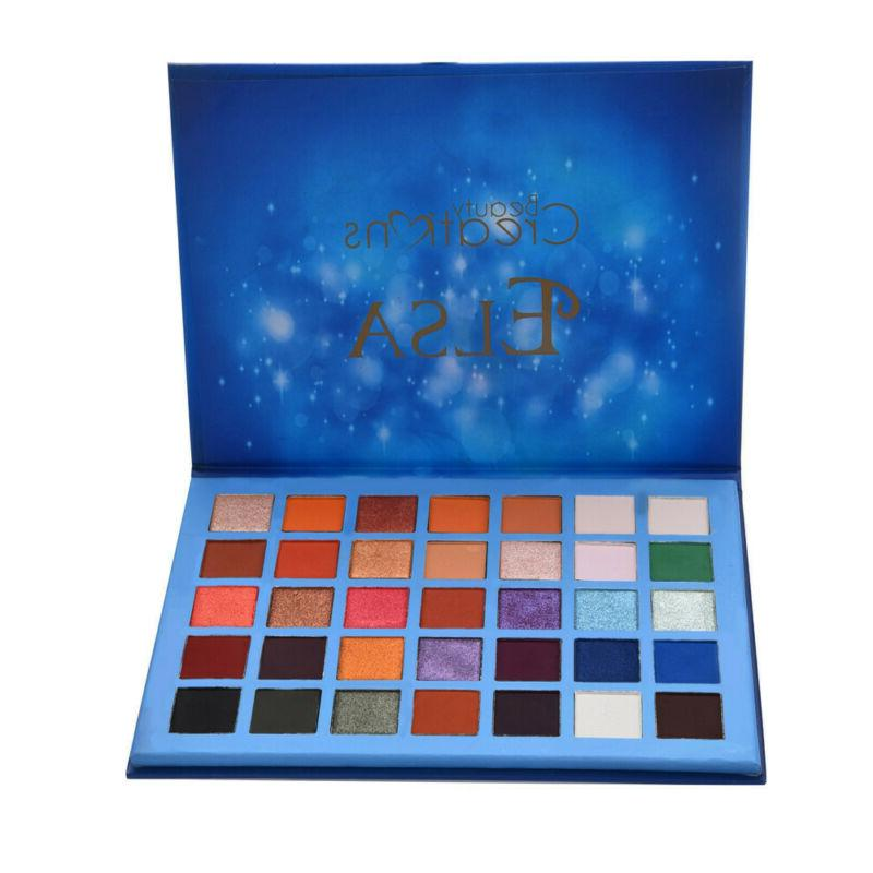 35Colors Cosmetic Powder Eyeshadow Palette Makeup Natural Sh