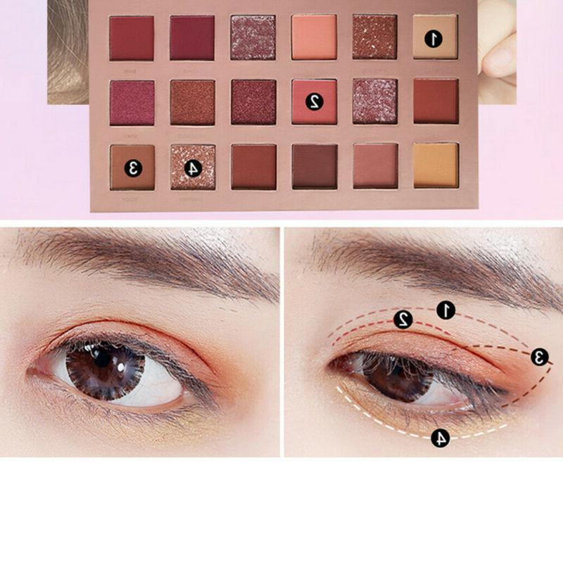 New Shimmer Palette Eye Shadows 18 Colors Cosmetic