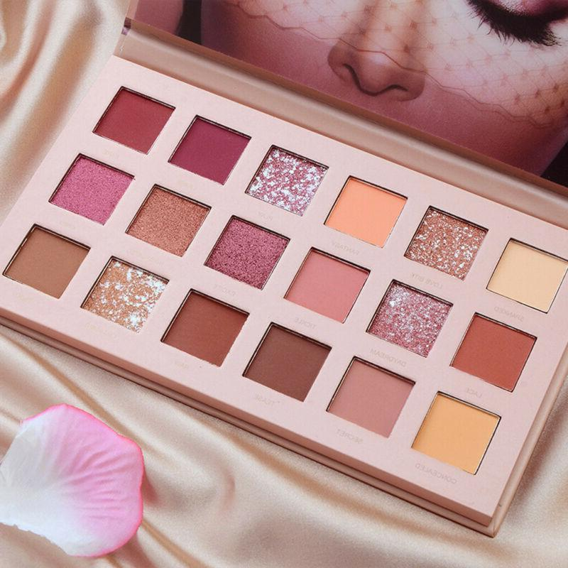 New Matte Shimmer Eyeshadow Palette Eye Shadows 18 Colors Cosmetic
