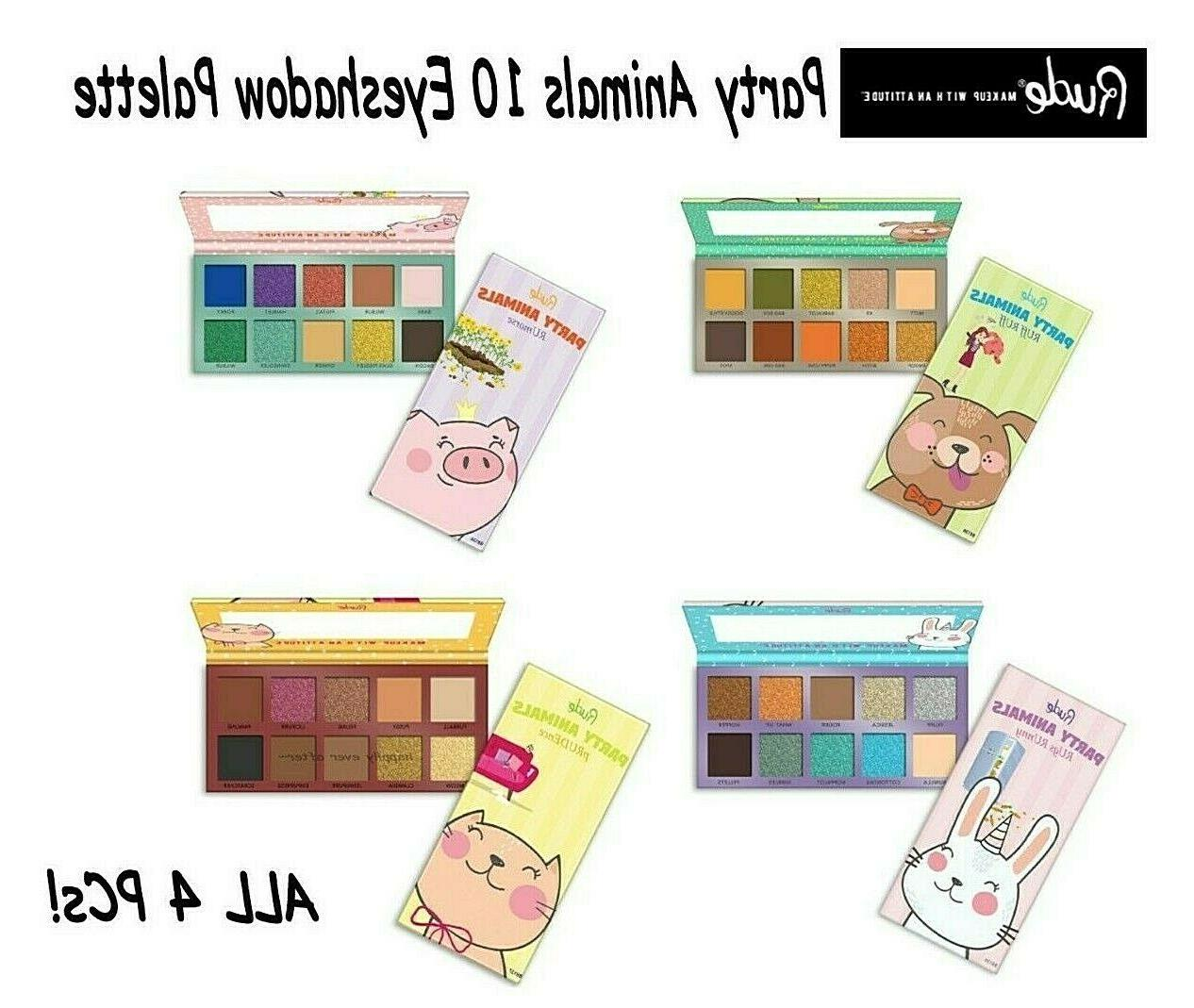 party animals 10 eyeshadow palette all 4