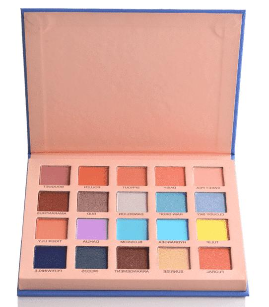 Prolux Perfect Bloom Eyeshadow 20 Color Palette Pigmented Spring Warm Cool Tone
