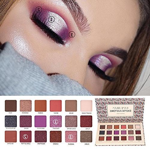 Staron Professional 18 Pigmented Shadow, Metallic Shimmer Eyeshadow Palette