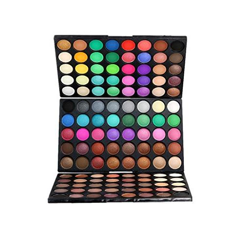 Homyl 120 Cosmetic Powder Eyeshadow Palette and Shimmer Professional Eyes + Makeup Powder Set