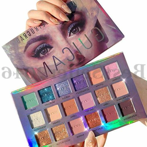 pro 18 colors eyeshadow palette pigmented matte