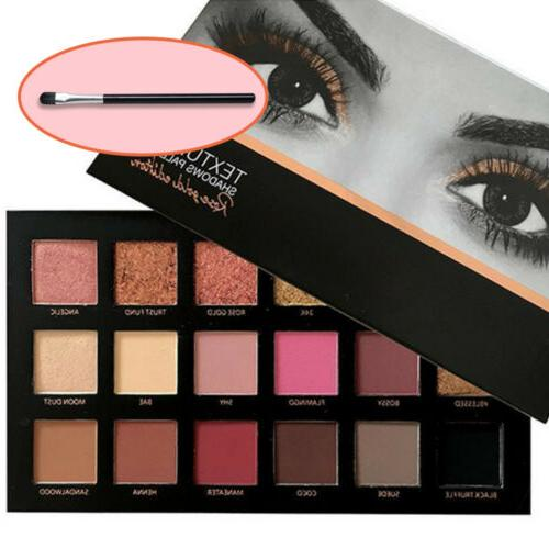 pro 18 colors textured eye shadow palette