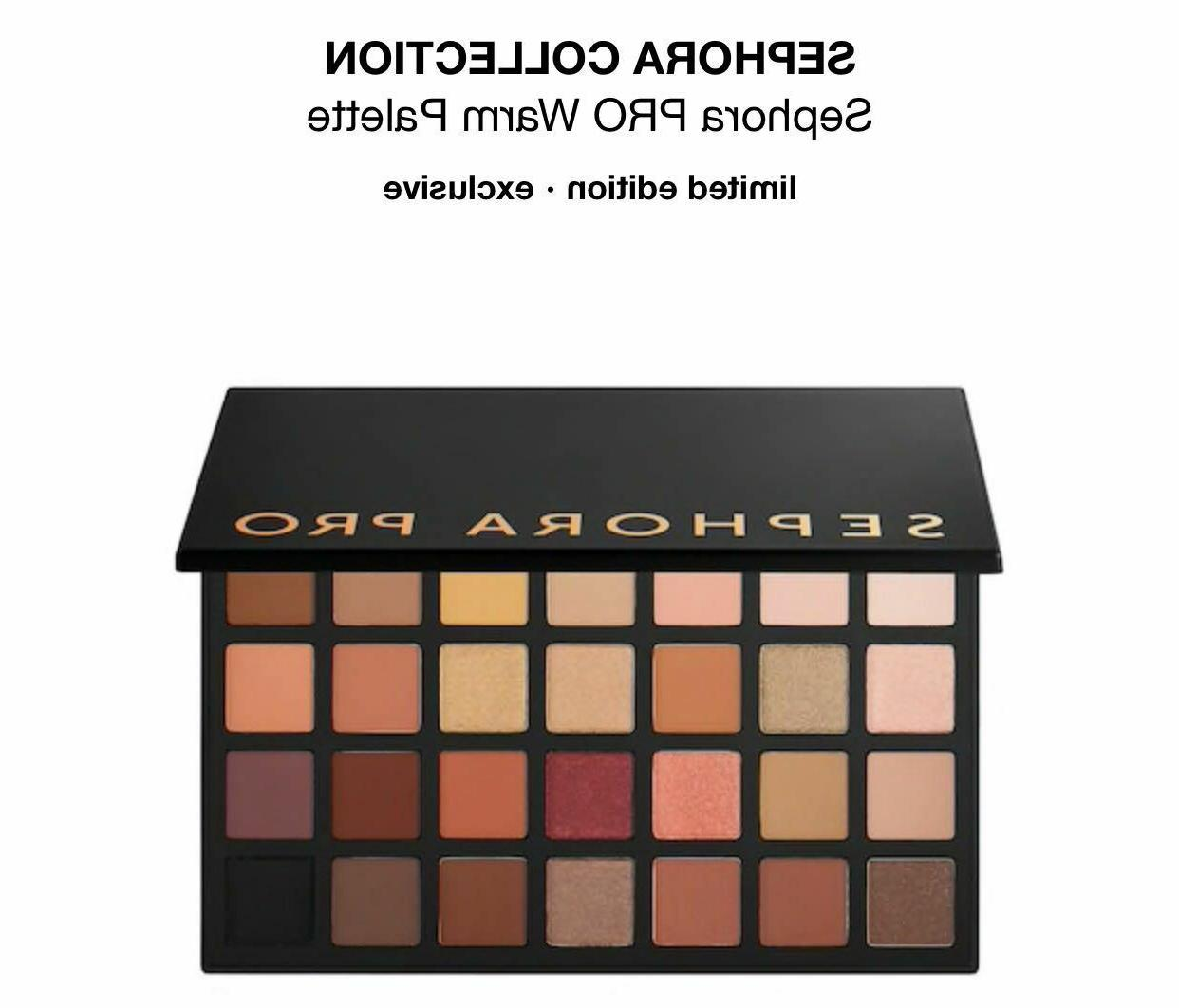pro eyeshadow palette warm brand new