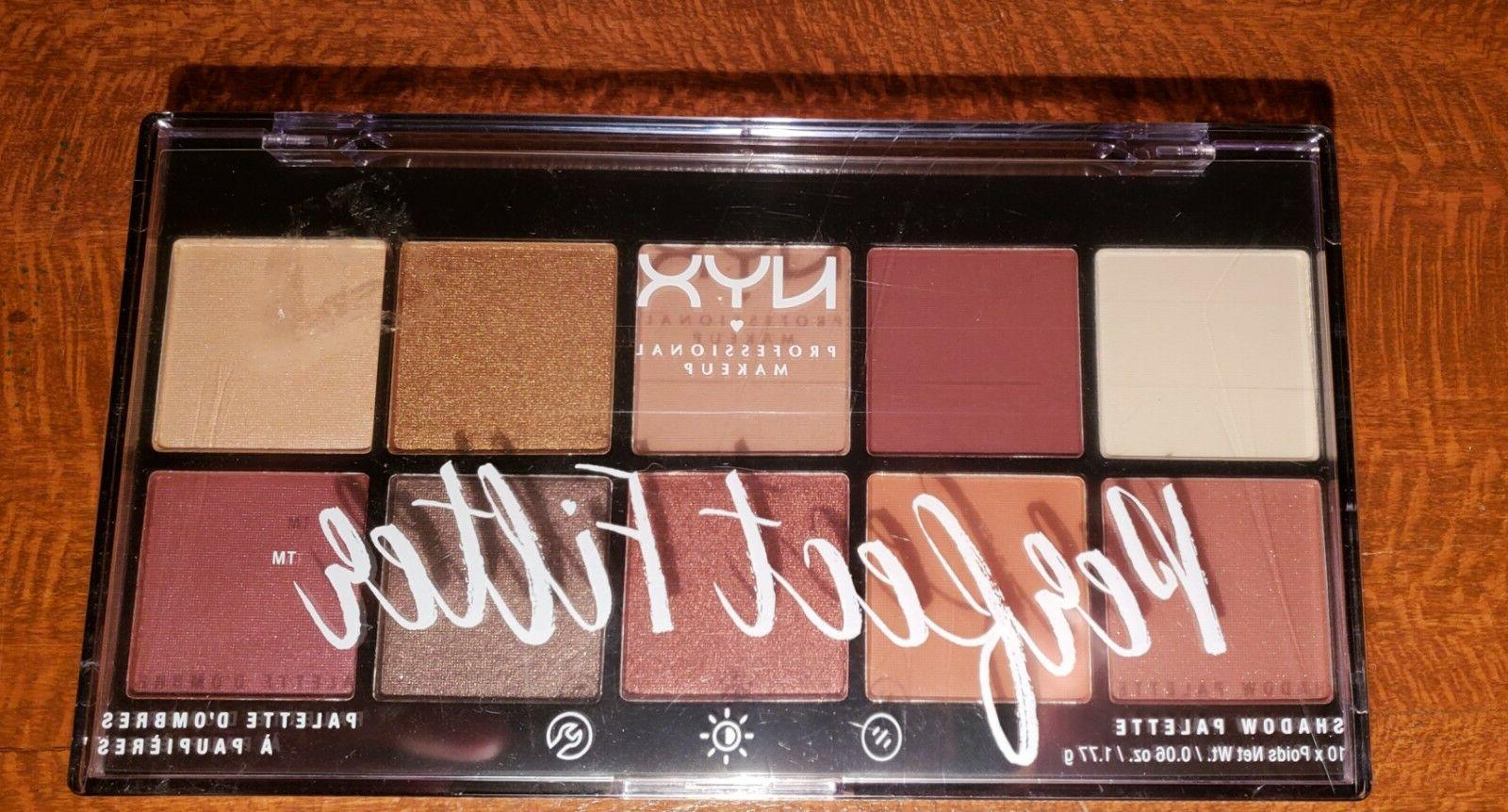 NYX Professional Perfect Filter Eyeshadow Palette Golden Hour