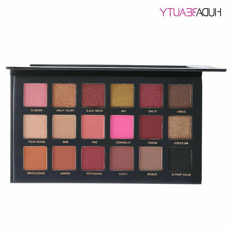 HUDA Beauty Rose Edition Palette 18 Colours new