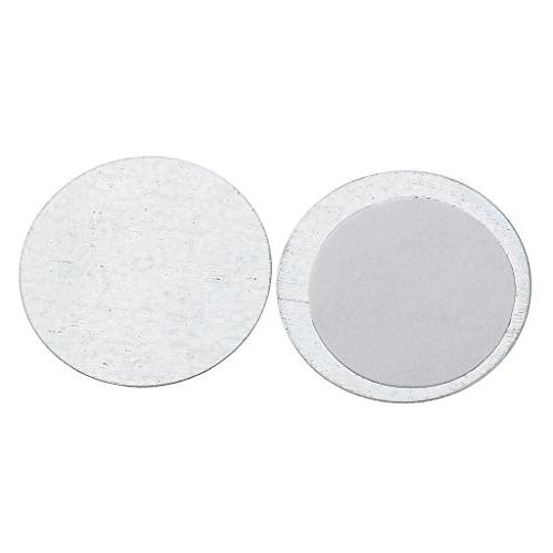 MagiDeal lot of Round/Square 25/15mm Eyeshadow Palette Pot DIY Tools Silver,