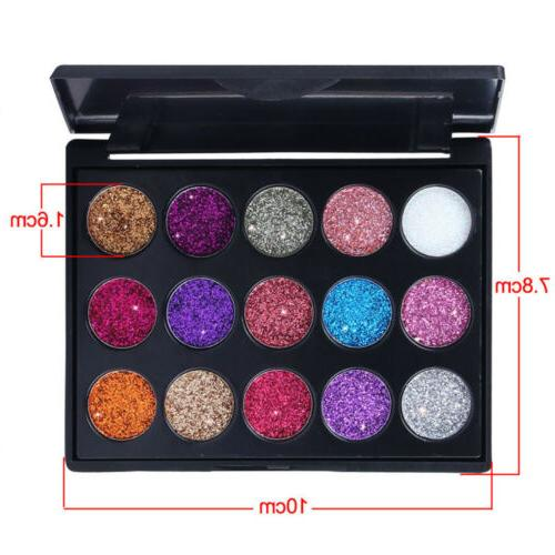 Shimmer Glitter Powder Palette Matte Eyeshadow Cosmetic Makeup