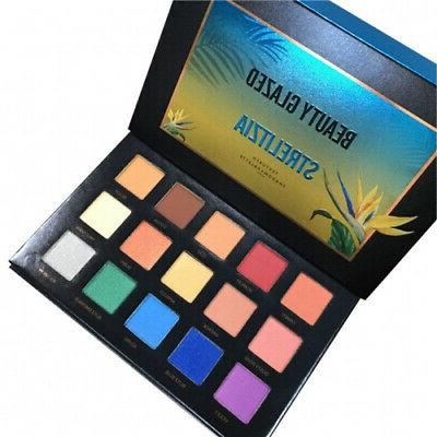 strelitzia 15 colours eyeshadow palette beauty glazed