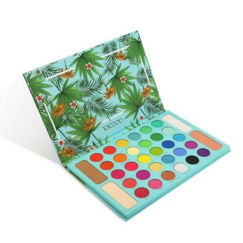 tropical eyeshadow palette 34 colors makeup ultra