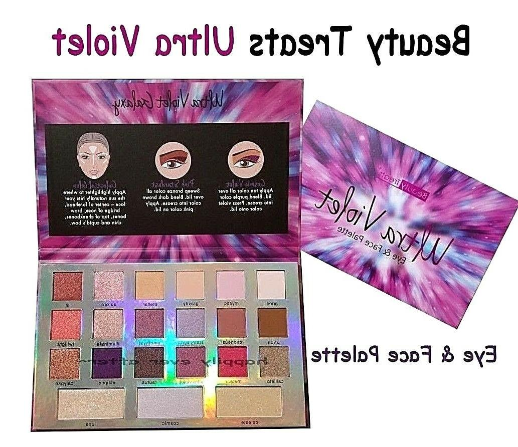 ultra violet eyeshadow palettes shimmery and matte