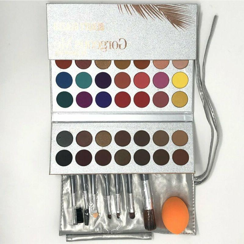 Pro 18 Colors Women Shimmer Matte Eyeshadow Pallete Waterpro
