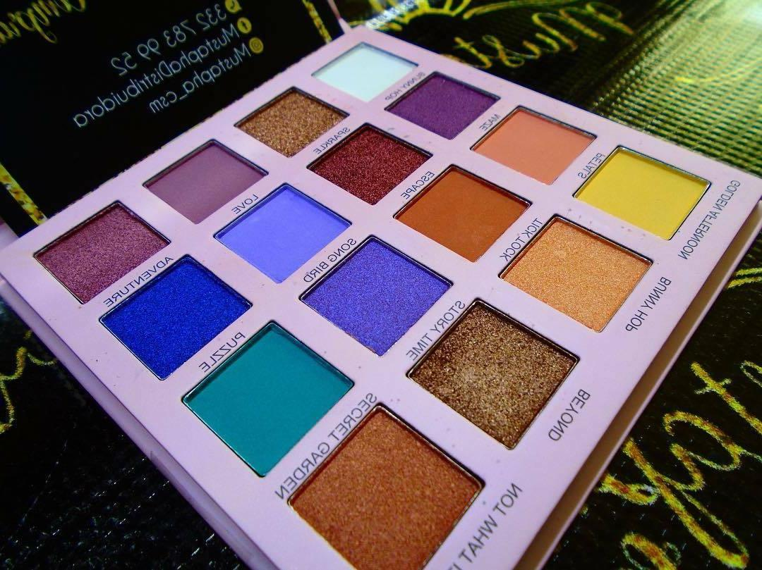 Prolux Eyeshadow Color Palette Pigmented Warm Cool