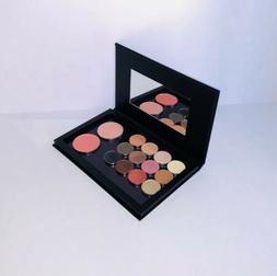 Large Empty Magnetic Eyeshadow Palette With Mirror Solid Bla