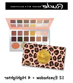 Rude Leopardina 12 Eyeshadow + 4 Highlighter Palette - Authe