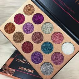 US 15Colors Diamond Glitter Eye Shadows Rainbow Cosmetic Mak