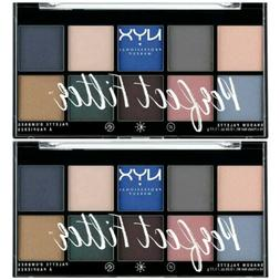 Lot of 2 NYX PERFECT FILTER EYESHADOW PALETTE PFSP05 MARINE