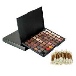 Magideal 54 Color Cosmetic Eyeshadow Palette+50pcs Dual Side