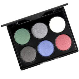 MagiDeal 6 Colors Matte Eye Shadow Shimmer Eyeshadow Palette