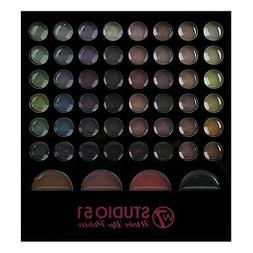 Makeup Eyeshadow Palette W7 Studio 51 Piece Set Brush Colour