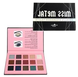 Italia Deluxe MISS METAL 15 Colors Metal Eyeshadow Palette -