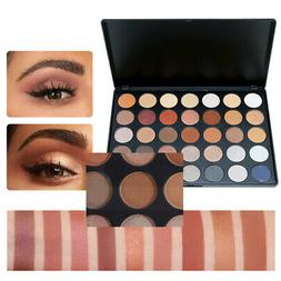 New 35 Colors Shimmer Glitter Eye Shadow Powder Palette Matt
