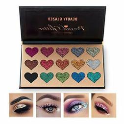 NEW Beauty Glazed Eyeshadow Palette Ultra Pigmented Mineral