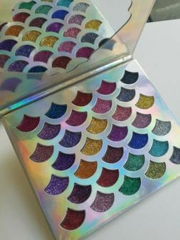 NEW MERMAID GLITTER EYESHADOW PALETTE 32 SHIMMERY COLORS
