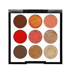 Kanzd NOVO 9 Color Pearl Glitter Eye Shadow Powder Palette M