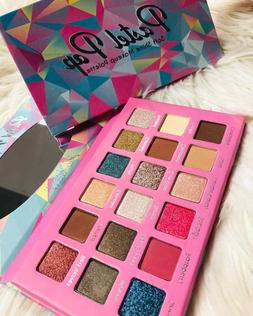 Malibu Glitz Pastel Pop 18 Colors Eyeshadow Palette Sombra d